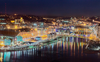 Pittsburgh Night Panorama 2